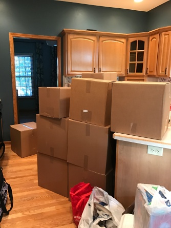 boxes landing in the new house